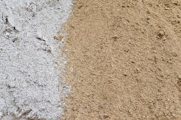 Yellow and white sand