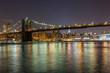 Brooklyn Bridge in New York, Night View
