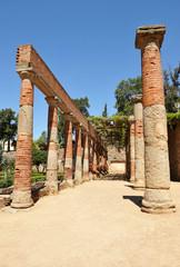 Peristilo, teatro romano de Mérida, Extremadura, España