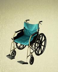 Wheelchair service vintage background