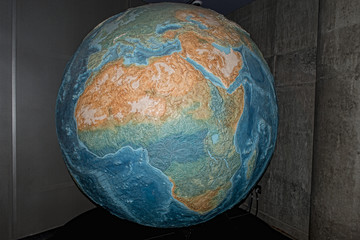 earth globe isolated