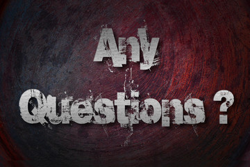 Any Questions Concept