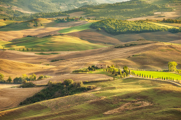 Rural landscape view of the most beautiful places on earth Val d