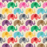 Seamless retro elephant