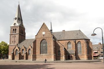 old church on markt in Wageningen