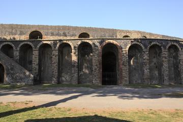 Amphi Theater in Pompeji - Seitenansicht