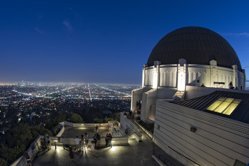 los angeles night view from observatory