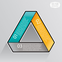 process cycle (straight) business template with three phases