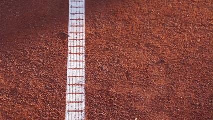 Tennisball springt in Zeitlupe