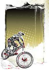 mountain bike poster background