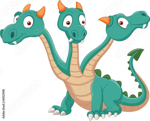 Cute three headed dragon - 69321418