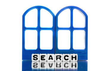 Search on blue frames