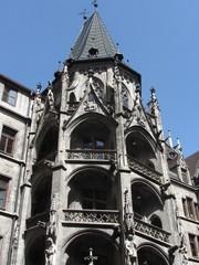 Particolare del Neues Rathaus a Monaco di Baviera