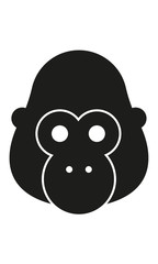 Gorilla Kopf Frontal