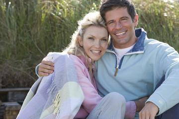 Portrait of couple outdoors