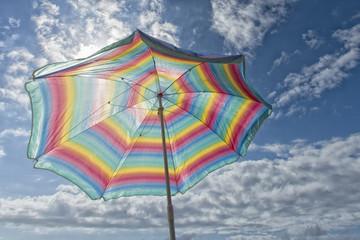 sun umbrella isolated on the beach
