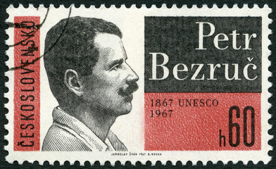 CZECHOSLOVAKIA - 1967: shows Peter Bezruc (1867-1958), poet