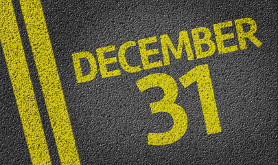 December 31 written on the road