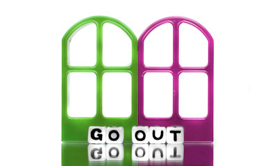Go out text message with frames