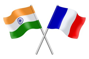 Flags: India and France