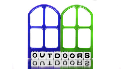 Outdoors text message