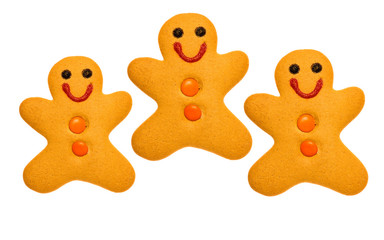 3 Gingerbread men