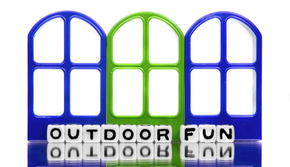 Outdoor fun text message