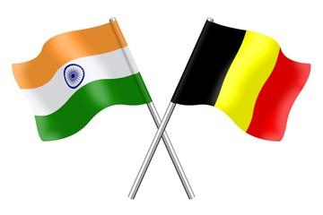 Flags: India and Belgium