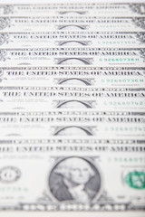 One dollar note background concept