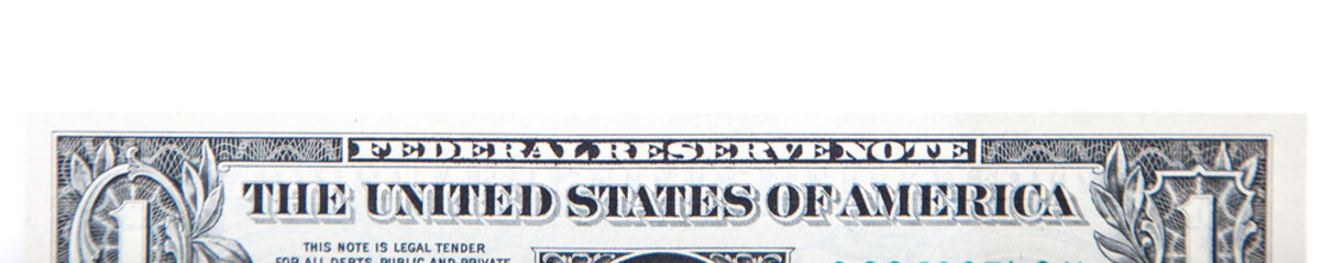 One US dollar note detail banner
