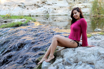 Hispanic Woman Creek