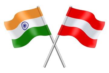 Flags: India and Austria