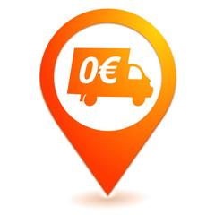 livraison gratuite sur symbole localisation orange