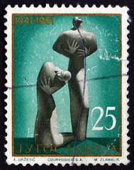 Postage stamp Yugoslavia 1961 Victims' Monument, Kragujevac