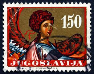Postage stamp Yugoslavia 1962 Archangel Gabriel
