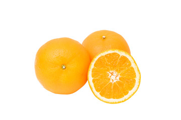 Orange Clipping Path on White Background