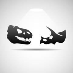 Dinosaurs skulls icon