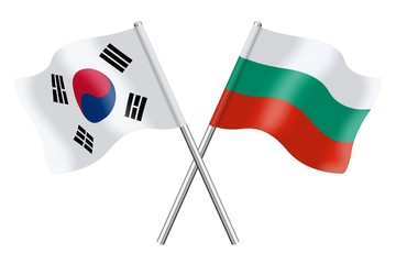 Flags : South Korea and Bulgaria