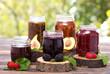 Homemade fruit jam in the jar - 69328098