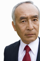 Mature businessman, portrait, close-up, cut out