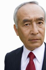 Mature businessman, portrait, close-up, cut out