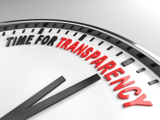 time for transparency