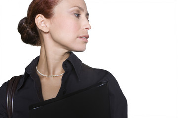 Businesswoman, close-up, cut out