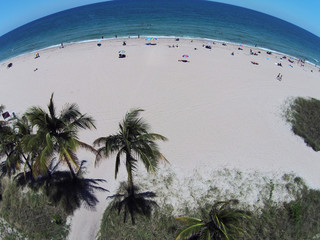 Sandy tropical beacch aerial view
