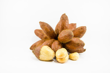 Salak fruit from south of Thailand on isolate background