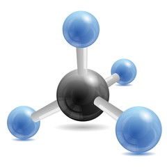 CH4 methane  molecule;