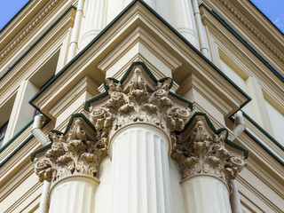 Moscow, Russia. Lenigradsky station. Architectural details