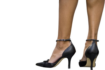 Woman's feet, cut out