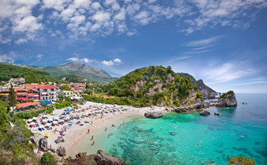 Piso Kryoneri beach in Parga, Greece.