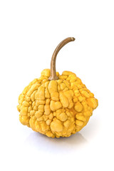 Decorative pumpkin isolated on white background